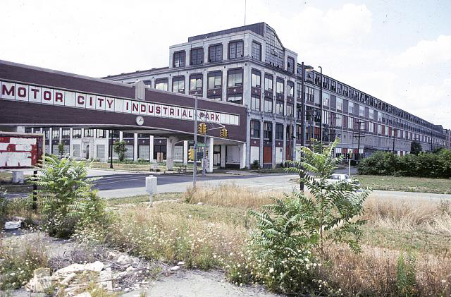 photograph of Packard automobile plant