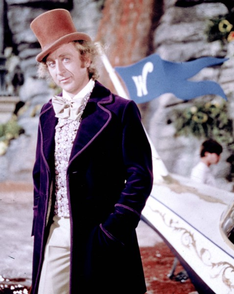 Promotional still from Willy Wonka & the Chocolate Factory showing Gene Wilder as Willy Wonka