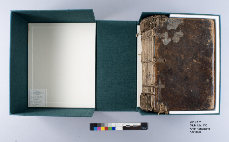 New clamshell box for Mich. Ms. 130