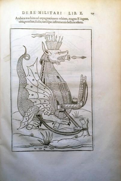 illustration of an animal-like war machine