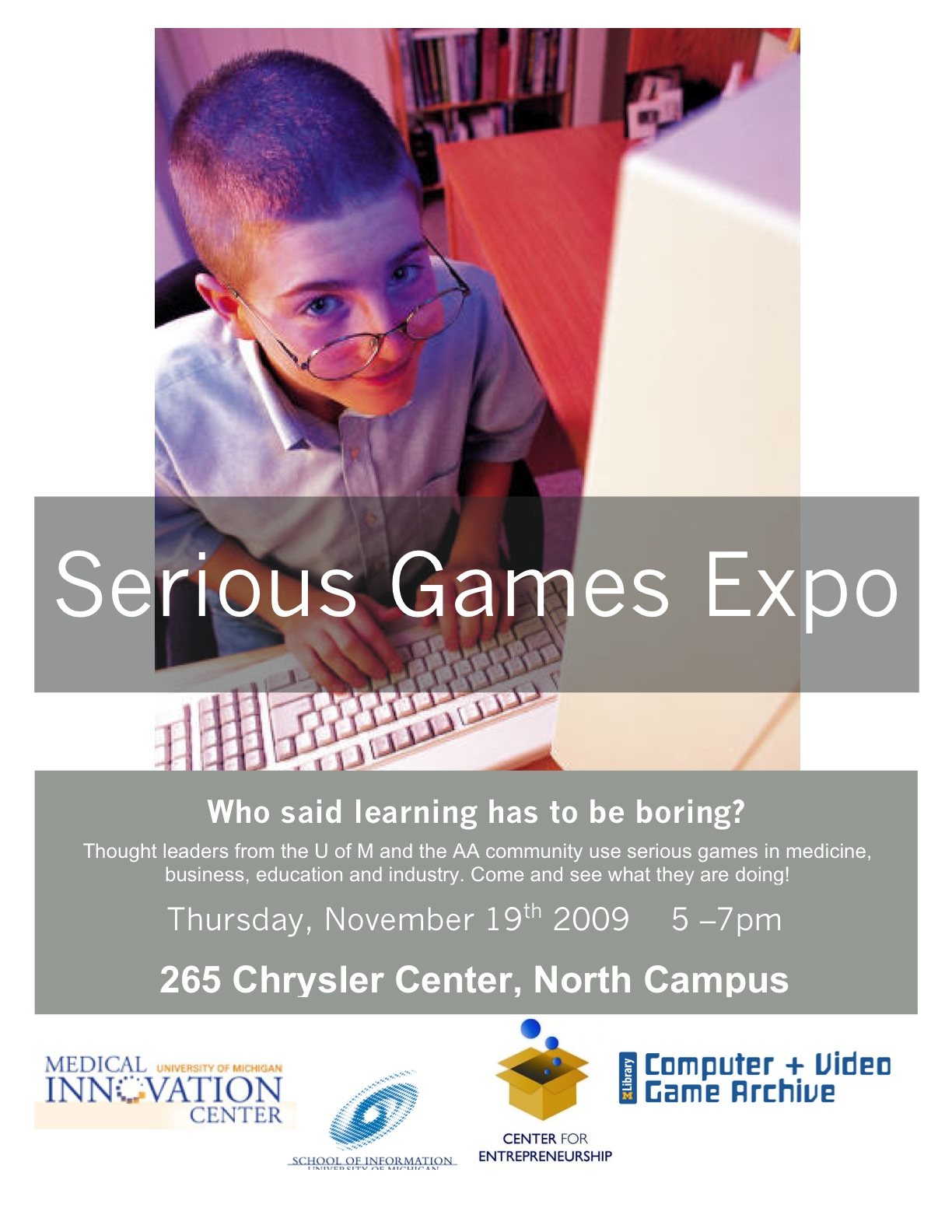 Serious games expo poster
