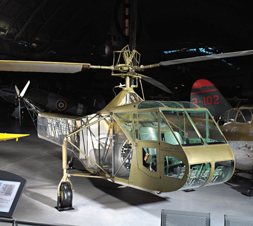 digital photograph of helicopter in museum
