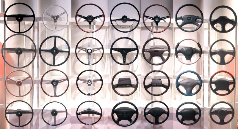 collection of car steering wheels