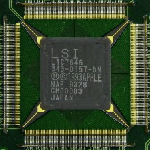 The custom ASIC chip inside the original Apple Newton H1000