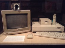 Photo of Amiga computer exhibit at the Andy Warhol Museum