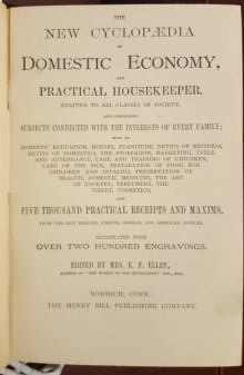 Title page of The new cyclopaedia of domestic economy and practical housekeeper :
