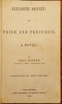 Title page of Pride and Prejudice