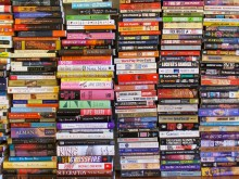 Image of stacks of books.