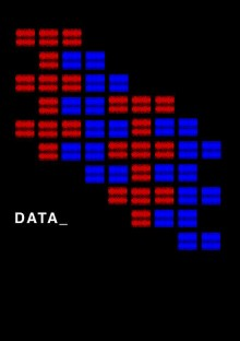 Image of red and blue blocks representing data