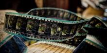 Movie frames on film