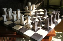 Photo of chess board.