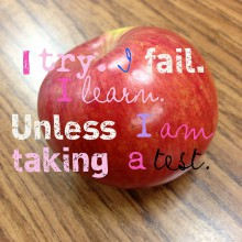 I try. I fail. I learn. Unless I am taking a test.