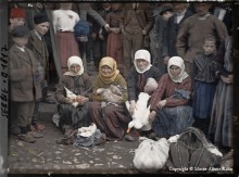 digitized autochrome of scene in Serbia