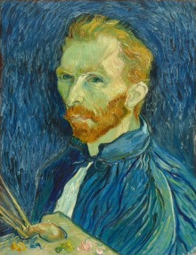 Digital image of painting of Van Gogh's self portrait