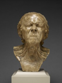"Digital image of portrait bust ""Vexed man"""