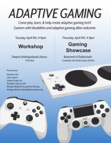 Adaptive gaming workshops poster