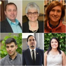 From top-left to right, Jeff Witt, Anna Schnitzer, Stephanie Rosen From bottom-left to right, Jesus Espinoza, Edras Rodriguez-Torres, Sheila Garcia