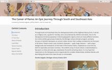 A screenshot of a library website