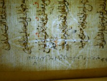Bow and arrow watermark in Isl. Ms. 78 p.38