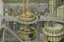 Brewing tanks at the Bergner & Engel Brewing Co., Philadelphia, 1880's