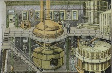 Brewing tanks at the Bergner & Engel Brewing Co., Philadelphia, 1880's