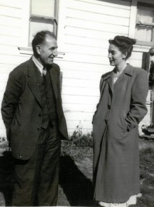 Photograph of Carlotta Anderson and her uncle Laurance Labadie.