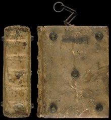 Spine and front cover of Gulielmus Durandus (ca. 1230-1296) et alii. [Tractatus varii] Paper. Germany 15th c.