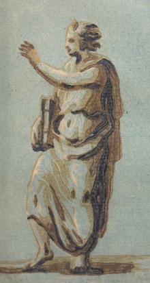 Detail of Color woodcut from four blocks, in the chiaroscuro technique, from Jean Michel Papillon. Traité historique et pratique de la Gravure en bois. 2 vols. (Pierre Guillaume Simon, 1766)