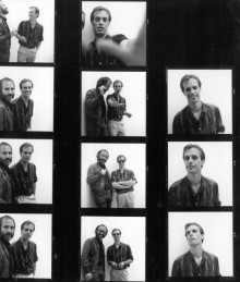 contact sheet of photographs of Alan Rudolph with actor Keith Carradine