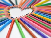 Image of many colored pencils