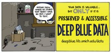 """Comic that shows a box of outdated, ephemeral media and a speech bubble asking, """"Anyone know where we stored that data? I have an idea I want to test."""""""