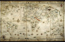 Desceliers Map of the World, 1550 (France)