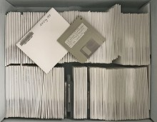 Box of Altman 3.5 inch floppy disks.