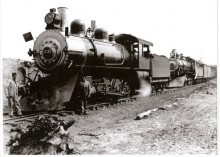 Engines of the Hancock and Calumet Railroad in the Copper Country. Note that cow catchers have become permanently installed snow plows.