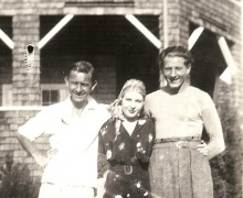 Snapshot of three people