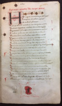 Folio 1r from Horace (65-8 BC). Ars Poetica & Epistulae. Parchment. Italy. 15th c.