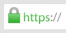 green lock icon and text that says https at the start of a URL bar