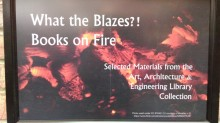Fire display sign