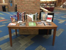 Picture of the theme table at the Art, Architecture and Engineering Library