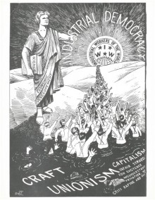 "IWW flyer ""Industrial democracy"""