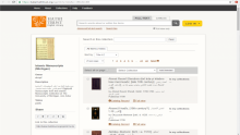 View of the Islamic Manuscripts Michigan collection page in the Hathi Trust Digital Library