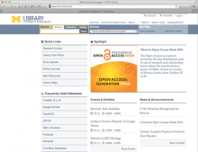 Screenshot of U-M Library's Gateway page