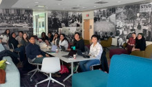 Image of students participating in the write in