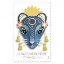 picture of US postage stamp for Lunar New Year