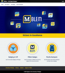 Splash screen for MBlem badging application