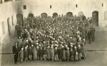Orphanage for Armenian boys. January 5, 1920. Aintab, Cilicia. Photograph by George R. Swain