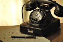 Old style rotary phone