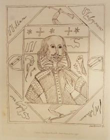 Forgery by William Henry Ireland, purporting to be a self-portrait of Shakespeare
