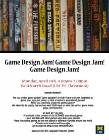 Game Design Jam Poster