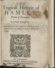 Hamlet, Second Quarto, 1604. Folger Shelfmark: STC 22276
